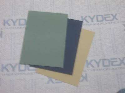 9 Pack A2 KYDEX SHEET  597 x 420 x 2mm/ 3x black,3x coyote,3x olive drab green