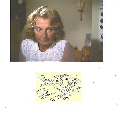 """Hitchcock's """"Frenzy""""-1972 Film ELSIE RANDOLPH- Signed album page & pic from film"""