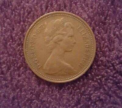 "1p (1 pence) British rare coin ""new penny"" 1971"