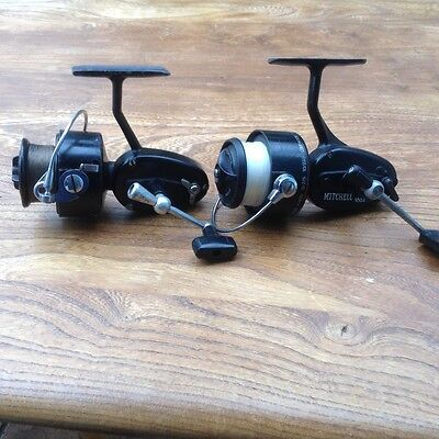 2 x Vintage Mitchell a304 & a 300 fix spool spinning reels