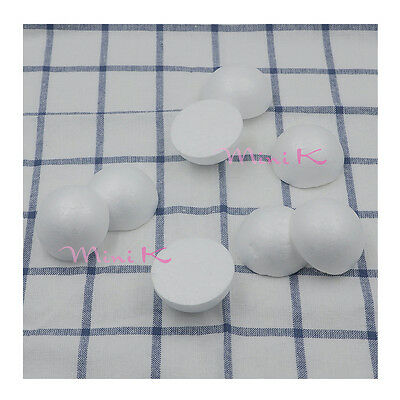 10pcs 40mm Handmade Foam Ball Hemisphere Polystyrene Styrofoam DIY New Party
