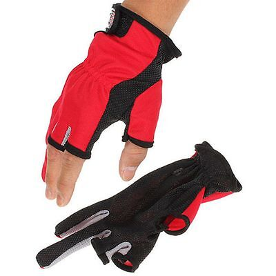 Sport Mitts Tackle Fingers Refers Breathable Three Non Slip Fishing Low Gloves