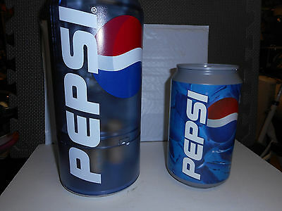 BIG PEPSI SODA BANK CHANGE SORTING Battery Operated Can BANK PLUS 2ND CAN BANK
