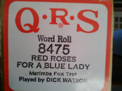 QRS Pianola Roll - Red Roses For A Blue Lady