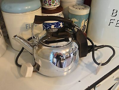Vintage Retro 60s 70s Russell Hobbs Electric Stainless Steel Kettle K2 British