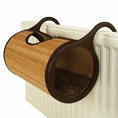 Rosewood Bamboo Cat Radiator Bed Pet Easy To Assemble Comfort Comfortable New