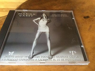 Mariah Carey - When You Believe - Spanish Different Pic Sleeve Promo Only Cd.