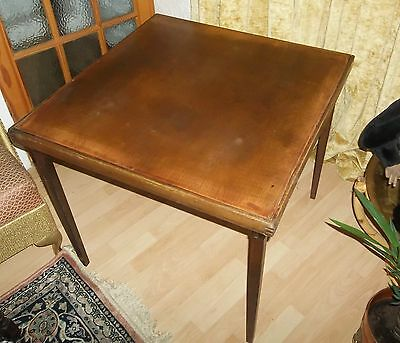 Vintage Folding Card Games Poker Bridge Table Made By ' Vono '
