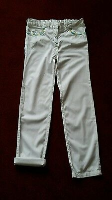 girls white trousers age 9/10 years