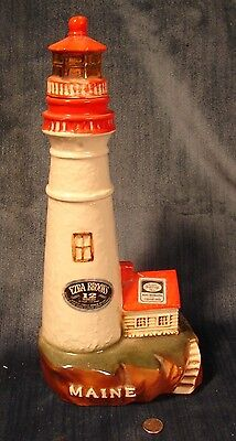 Rare Vintage Ezra Brooks Portland Maine Lighthouse Decanter by Heritage China
