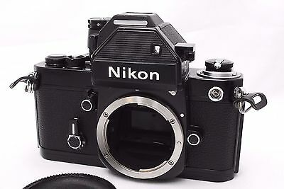 [Near MINT] Nikon F2 Photomic S BLACK 35mm SLR Film Camera w/Case From Japan