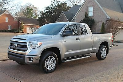 2014 Toyota Tundra SR5 4WD Double Cab One Owner Perfect Carfax Great Service History Bucket Seats Spray in Bedliner