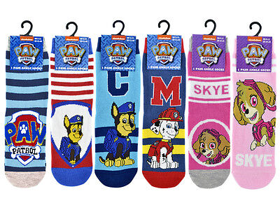 3 Pairs Kids Childrens Official Paw Patrol Marshall, Chase & Skye Character Sock