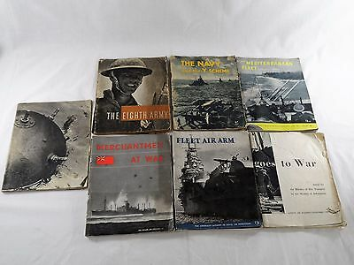 Collectable Vintage War Books x 7 - World War II Published by UK Govt 1941-1944