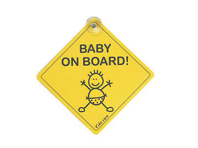 Elro Kids Care - Baby on board - Saugnapf-Sticker, Doppelpack