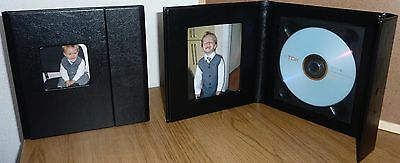 Prestige Black Single Faux Leather DVD Case Ideal For Weddings Discs and more