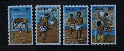 TOKELAU 1981 Sports Running Volleyball. Set of 4. Mint Never Hinged. SG77/80.