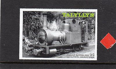 Railway Letter Stamps Talyllyn 2004 Definitive Imperforate