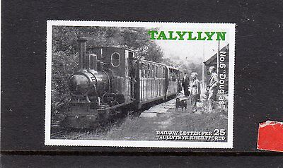 Railway Letter Stamps Talyllyn 2004 50 Years of Douglas Imperforate