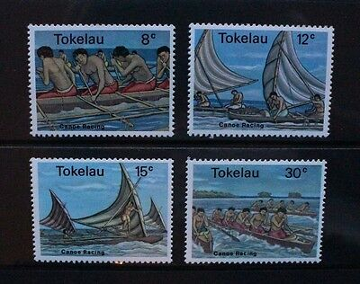 TOKELAU 1978 Canoe Racing. Set of 4. Mint Never Hinged. SG65/68.