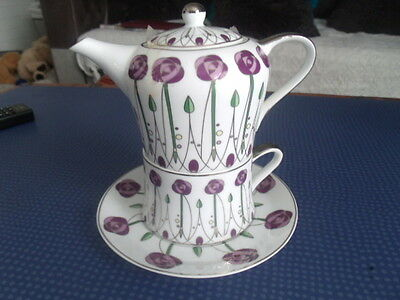 The Leonardo Collection One Persons Teapot/cup And Saucer Set