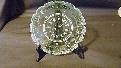 Abc Clock Plate Vaseline Scallop Edge Alphabet Numbers Pre-Owned Repo 1890