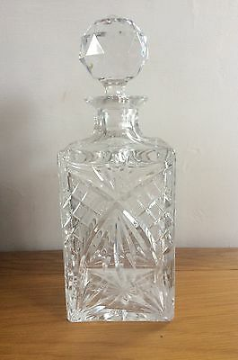 Crystal Whiskey Decanter . Lovely Condition .