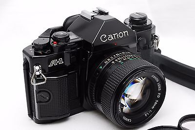 [Near MINT] Canon A-1 35mm Film Camera body + New FD 50mm f/1.4 Lens From Japan