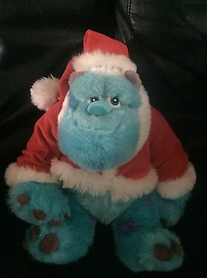 Disney Store Exclusive Christmas Monsters Inc Sully 12 Inch Plush Rare