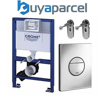 GROHE 38526 Rapid SL 3 in 1 WC Set - 0.82m Concealed Frame ,Cistern, Nova Plate