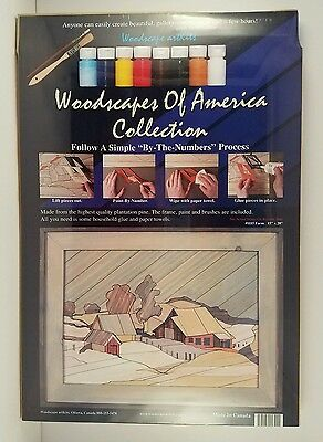 NEW Woodscapes of America Collection Wood Art Kit Made in Canada #1115 Farm
