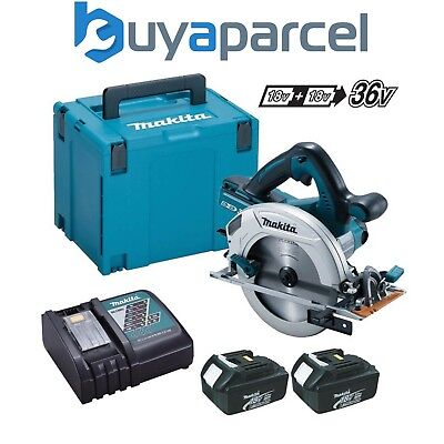 Makita DHS710ZJ Twin 18V 36V 185mm SCIE CIRCULAIRE LXT + 2x 3.0Ah,Chargeur +