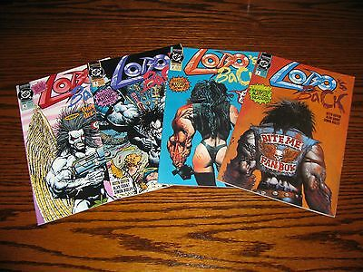 DC - LOBO'S BACK 1 - 4 Complete Series!!  Glossy VF 1992