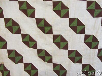"Early c 1830/40s Hour Glass 49 LANTERNS Quilt Top 109"" x 95"""