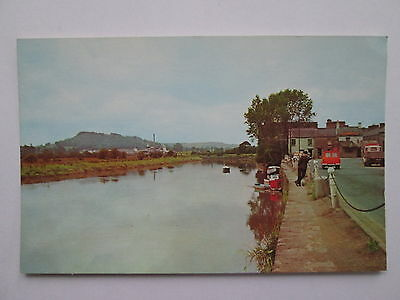 Old Postcard - The Quay & River Towy , Carmarthen , Wales .