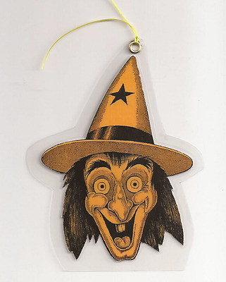 Halloween Decorations Witch, Card Paper, Hand Die Cut, Laminate, Plasticized