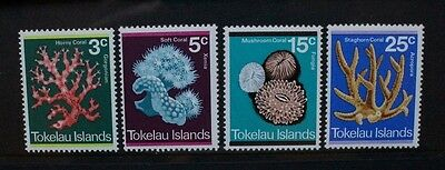 TOKELAU 1973 Coral. Set of 4. Mint Never Hinged. SG37/40.