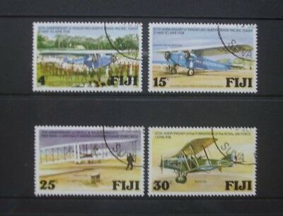 FIJI 1978 Aviation Anniversaries Aircraft. Set of 4. Fine USED. SG552/555.