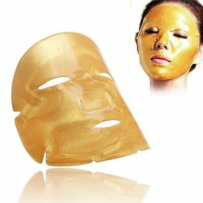 10 Pieces Gold Collagen Crystal Mask For Face Facial Anti Ageing Face-Mask10