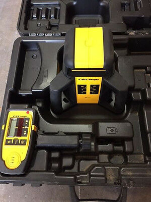 CST Berger Model RL25H Rotating Laser Level With Tripod, Stick and Case