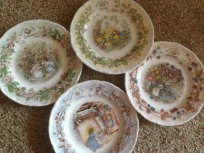 royal doulton brambly hedge Four Seasons Plate Set + Free Hangers