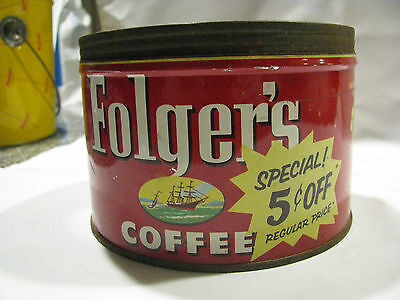 Vintage Folgers Coffee Can/Tin