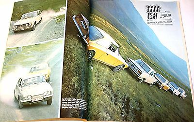 Rare Triumph Stag, Reliant Scimitar, Gilbern Feature In Mint Cond Motor Mag 1970