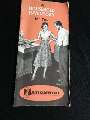 50's NATIONWIDE INSURANCE  A Household Inventory Booklet