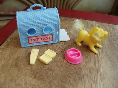 New Barbie Family Or Similar Doll'Pet Taxi' Grooming Kennel/ Cat Set New  1990'S