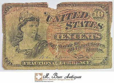 1863 10 Cents 4th Issue Fractional Currency *329