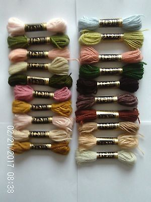 Lot of 20 Anchor Tapestry Wool Skeins. Assorted Colours.coats.