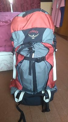 Osprey Crescent 70 7075AL Bioform Red&Gray Hiking Backpack Size M