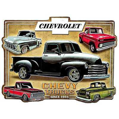 Chevy Trucks Sign -American Chevrolet  man cave metal tin embossed garage sign