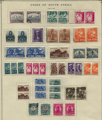 South Africa 1941 - 1943 MH / Used Selection CV $107+